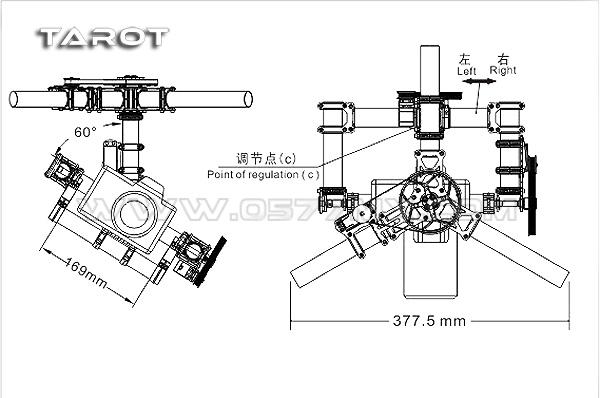 tarot 3-axis gimbal  full-frame  tl100aaa